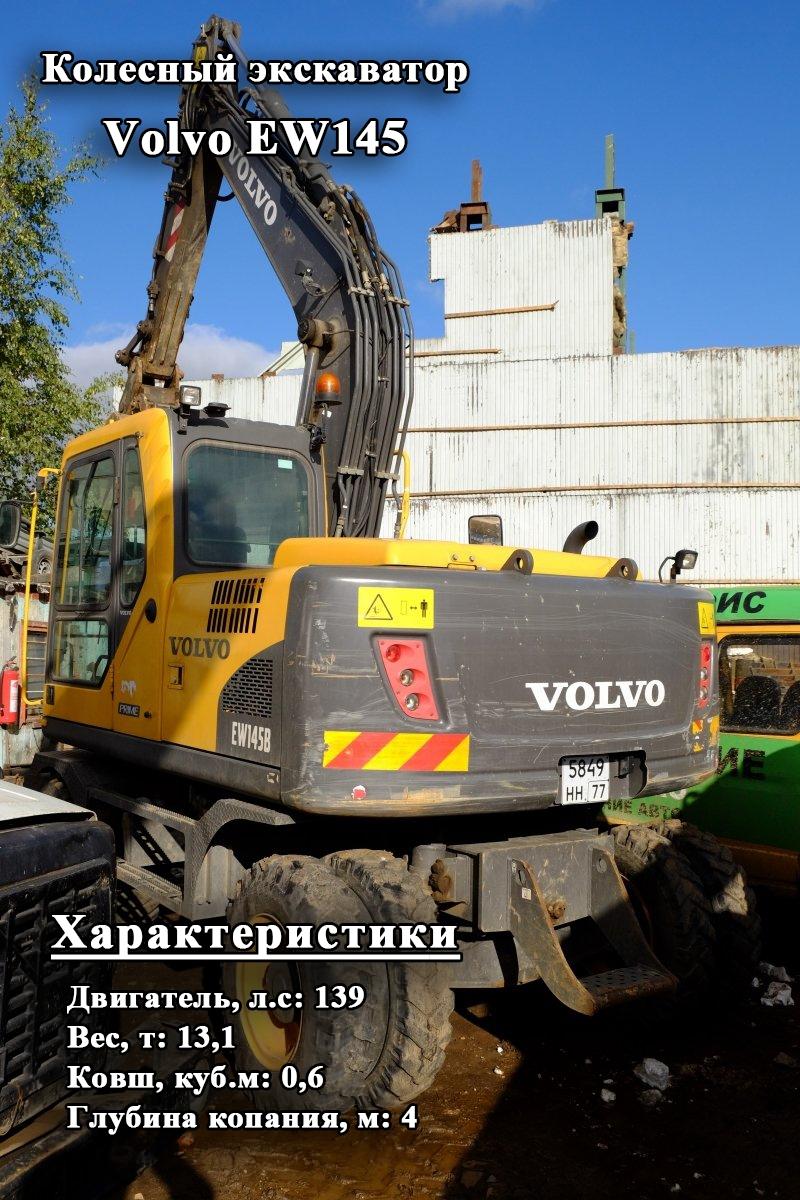 Фото №9:Колесный экскаватор Volvo EW145