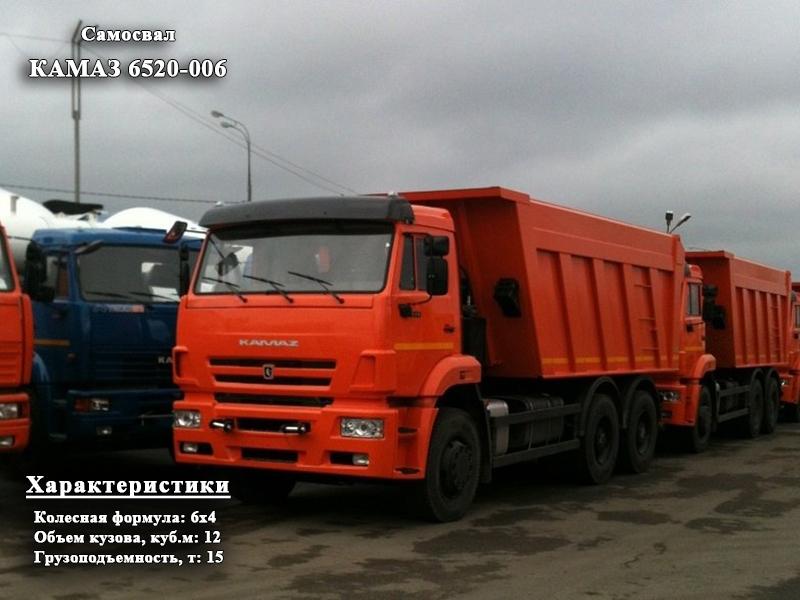 Фото №1:Самосвал КАМАЗ 6520-006