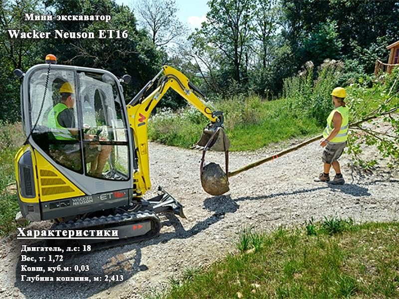 Фото №1:Мини-экскаватор Wacker Neuson ET16