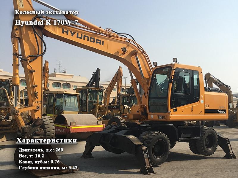 Фото №1:Колесный экскаватор Hyundai R 170W-7