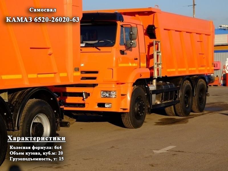 Фото №1:Самосвал КАМАЗ 6520-26020-63
